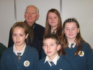 Gay Byrne with our team